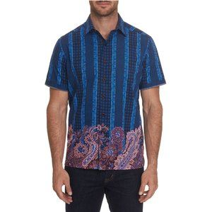 NWOT Robert Graham Mixed Print Short Sleeve Shirt